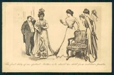 Artist Signed Charles Dana Gibson Lady postcard TC4221