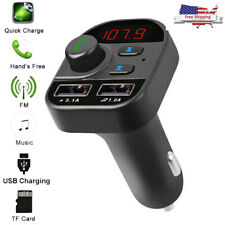Bluetooth In-Car Wireless FM Transmitter Radio MP3 Adapter Car Kit 2 USB Charger