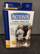 NEW Activa Mens/Womens Coolmax Athletic Socks 20-30 mmHg Compression Sz Medium