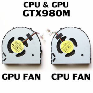 LAPTOP CPU Fan For Dell Alienware 15 R2 P42F CPU & GPU Cooling Fan L+R GTX980