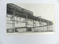 Vintage Postcard 1936 Elevated R.R. Curve at 110TH Street New York