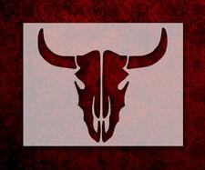 """Bull Steer Skull 11"""" x 8.5"""" Custom Stencil FAST FREE SHIPPING (103)"""