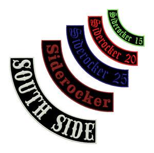 Siderocker mit eigenem Text Aufnäher Patch Biker Rocker Prozenter individuell