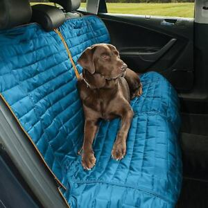 Kurgo Loft Bench Seat Cover Car Seat Cover for Pets Blue/Charcoal K01400