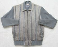 Vintage 70s Jacket Frederick & Nelson Gray Blue Coat Nylon Lined Cowhide Leather