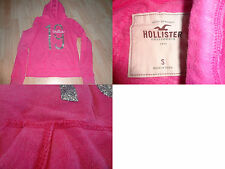Youth Girls Hollister S Hooded Sweatshirt Pink W/ Silver Glitter (A)