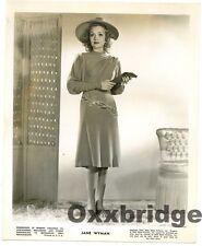 JANE WYMAN ORIGINAL PHOTO 1942 Ronald Reagan Wife Glamorous Actress Young RKO