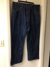 Roccawear mens loose fit Jeans Size 40 Yellow/blue Embroidery To Back Pockets