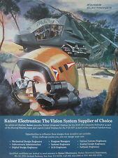 9/1991 PUB KAISER ELECTRONICS HELMET INTEGRATED DISPLAY RAH 66 COMANCHE F-22 AD