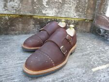 CHEANEY DOUBLE MONK STRAP – BROWN NUBUCK – UK 8 – VERY GOOD CONDITION