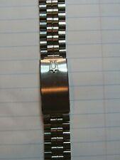 "NOS Kreisler Solid Link Stainless Men's Watch Bracelet Accutron 18mm 11/16"""