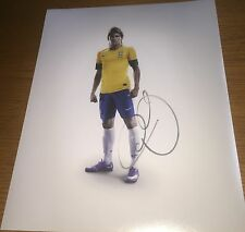 Neymar da Silva Santos Jr Brazilian Soccer Star Signed 11x14 Photo Proof COA