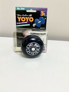 Tom Kuhn No Jive 3-in-1 yo-yo BC Rare NAVY with Holographic silver NEW IN BOX