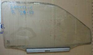 OPEL KADETT E 3 DOORS MODEL 1985 88 FRONT RIGHT DOOR WINDOW GLASS ASSY USED