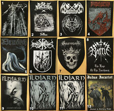 Various Rock & Metal Band Back Patches
