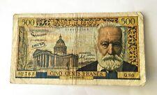 Billet 500 Francs Victor Hugo 1957