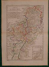 1787 DATED RIGOBERT BONNE MAP ~ HIGH RHINE MAYENCE LANDGRAVIAT DE HESSE