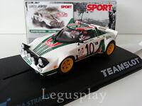 "Slot SCX Scalextric Team Slot SRE11 Lancia Stratos ""Sport"" Alitalia Munari/Maiga"