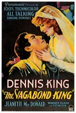 THE VAGABOND KING Movie POSTER 27x40 Dennis King Jeanette MacDonald O.P. Heggie