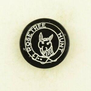 Vintage Rosetree Hunt Club Fox Head Uniform Button C1
