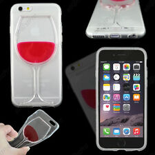 Housse Etui Coque Rigide Vin Rouge Transparent / Rouge Apple iPhone 6S 4,7""
