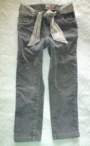 LANDS' END Girls Brown Embroidered Blue JEANS Gray Corduroy Purple Pants 4 5 6