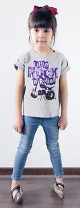 "Dirty Fingers Kid's T-Shirt ""Little Rock 'N Roller"" Drums Guitar Punk Metal Band"