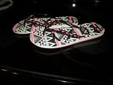 Brand New Womens Pink, Black & Gray Roxy Flip Flops, 10