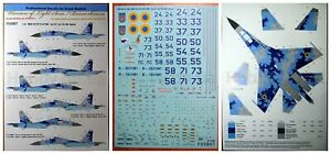 Foxbot 72-004 - 1/72 Decal Sukhoi SU-27S, SU-27UB Ukrainian Air Forces Digital