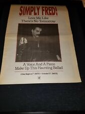 Freddie Mercury Love Me Like There's No Tomorrow Rare Uk Promo Poster Ad Framed!