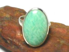 Adjustable  AMAZONITE  Sterling  Silver  925  Gemstone  RING
