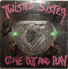 """SIGNED TWISTED SISTER AUTOGRAPHED 12"""" LP W/PICS CERTIFIED JSA # K57502"""