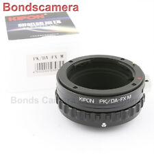 Kipon Pentax K mount DA lens to Fujifilm Fuji X Adapter Macro Helicoid X-Pro1 T1