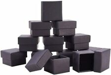 New 24 Pack Black Kraft Square Cardboard Jewelry Boxes Ring Box for Jewelry Set