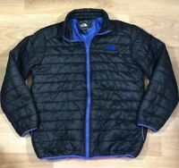 Mens NORTH FACE Puffer Jacket XXL Black And Blue