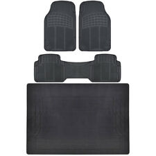 BDK All Weather Floor Rubber Mats w/ Cargo Trunk Black for Car SUV Truck⭐⭐⭐⭐⭐