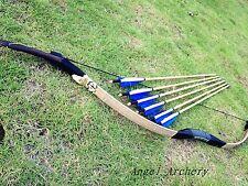 Handmade Real Cobra snakeskin Archery longbow 20lbs-60lbs +6 Nice wooden arrows