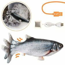 New listing Moving Fish Cat Toy Soft Plush Interactive Kitten Kitty Exercise Usb Recharge
