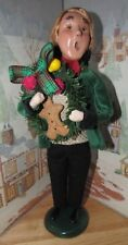 Byers Choice Victorian Man with Christmas Gingerbread Man Wreath 2006 *
