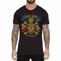 Colorful Pineapple shaped skull Funny Ringer T-shirts Men cotton Short Sleeve
