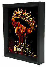 GAME OF THRONES-CROWN 8x10 3D SHADOWBOX WALL DECOR ART FANTASY DRAMA TV SHOW USA
