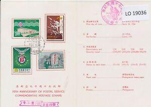 LO19036 Taiwan 1966 postal service anniversary FDC used