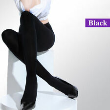 Classic Black Women 120D Opaque Footed Tights Pantyhose Stockings Sock Warm Slim
