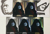 (7)2020 Star Wars Masterwork Emperor Palpatine Sketch 1/1 Set Ternashi. Parallel