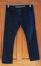 Petroleum Skinny Mens Blue Jeans - Button up - W36 S