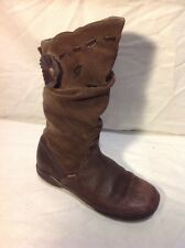 Girls Clarks Brown Leather Boots Size 12.5F