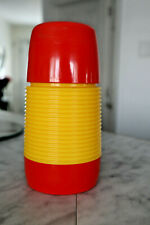 Vintage Red & Yellow 1970's PlasticAladin Thermos (Industries Corp. Nashville, T