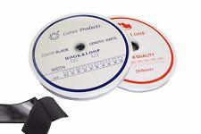 1 Meter Klettband 10-16-20-25-30-40-50-100-125 mm Schwarz Weis Kleben oder Nähen