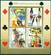 Lewis Carroll and Alice in Wonderland - Madagascar MNH set 3val and s/s
