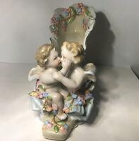 Dresden Meissen Porcelain Figure of Cherubs in a Shoe